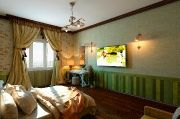 Спальня в зеленых тонах. Автор проекта: Раджаб Магомедов. #дизайнинтерьера #igenplan #дизайнспальни  #интерьерспальни  #спальни