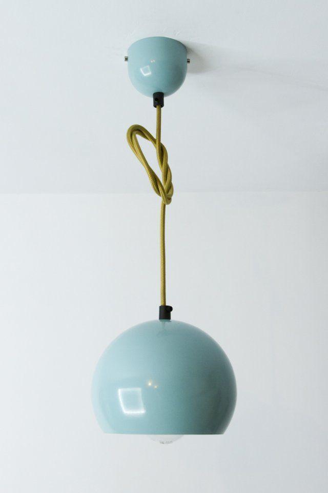 nulight - lampa wisząca turkusowa kabel w oplocie