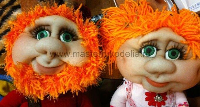 Мастер-класс куклы в чулочной технике, Гномы (часть 4)