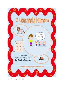 From the Old Testament's book of Daniel, the stories of Daniel and the lions and the three men in the furnace are narrated by a babysitter.  Production notes include character list and staging.  Check out the accompanying free power point.