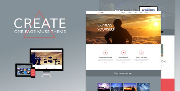 Create - One Page Muse Theme (Creative)