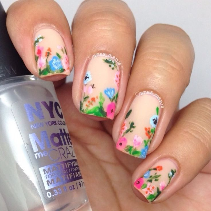 Best 10+ Floral nail art ideas on Pinterest | Spring nails, Spring ...