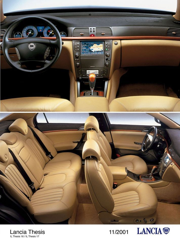 #Lancia Thesis interiors #italiandesign