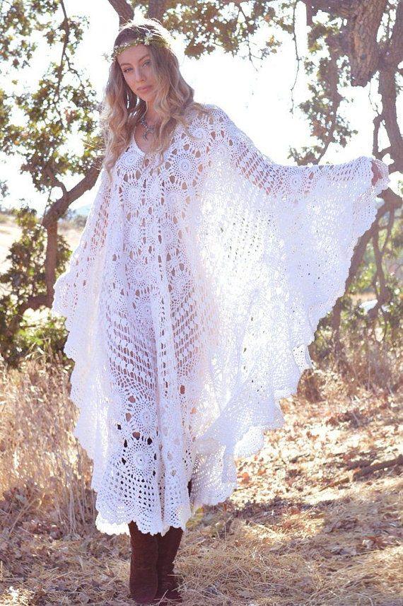 Hippie kleid gehakelt