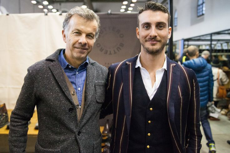 Team Buttero at their booth at Pitti Uomo 87.