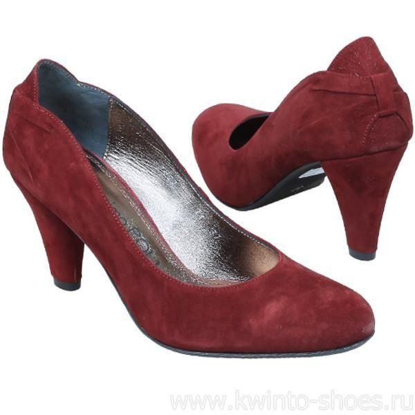 Женские туфли бордовый
