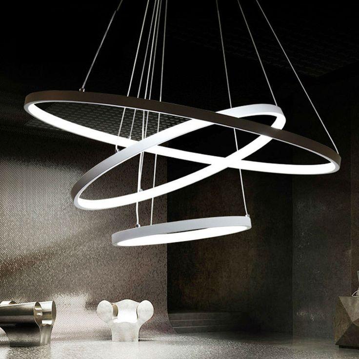 modern led pendant lights for Foyer 3 rings light aluminum pendant lamp suspension luminaire Light Fixture 60W LED bulbs #Affiliate
