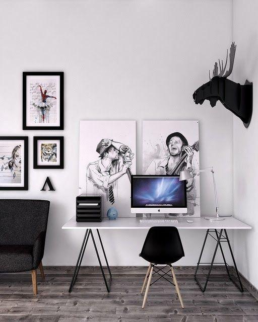 10 pequenos escritórios design escandinavo ~ Decoração e Ideias