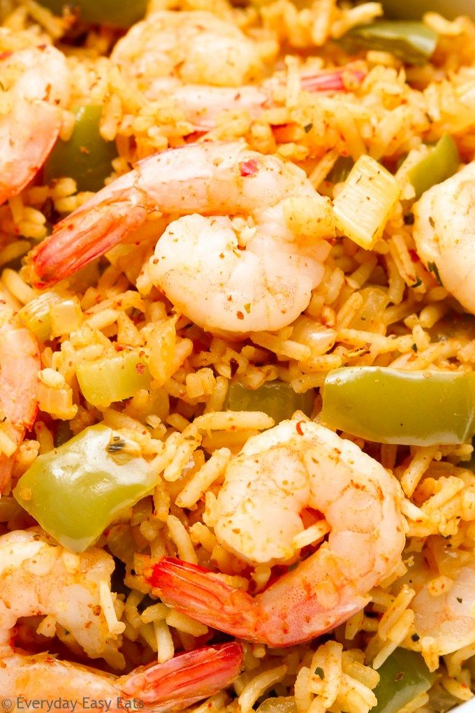 This One-Pot Cajun Shrimp and Rice recipe is spicy, satisfying and perfect for busy weeknights! Ready to eat in just 30 minutes. | EverydayEasyEats.com