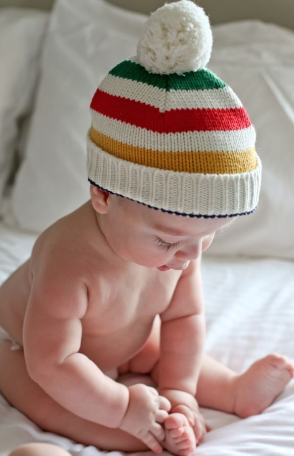 Hudson's Bay Company Signature Collection tuque #stripespotting