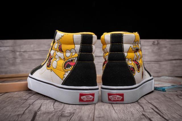 8413200903 Vans Simpsons Cartoon Sk8-Hi Classic Black White Womens Shoes  Vans ...