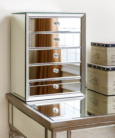 Another great find on #zulily! Omni-Mirror Five-Drawer Jewelry Box #zulilyfinds