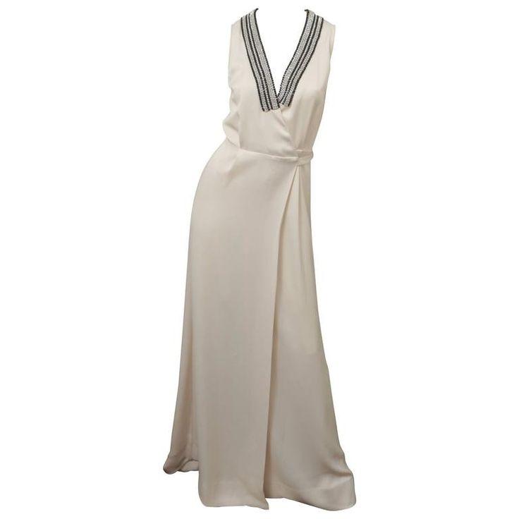 Malene Birger Deep V-Neck Sleeveless Floor Length Dress