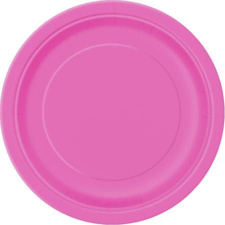 Hot Pink Paper PlatesPacks of 9 Round Paper Plates by FunWithPearl