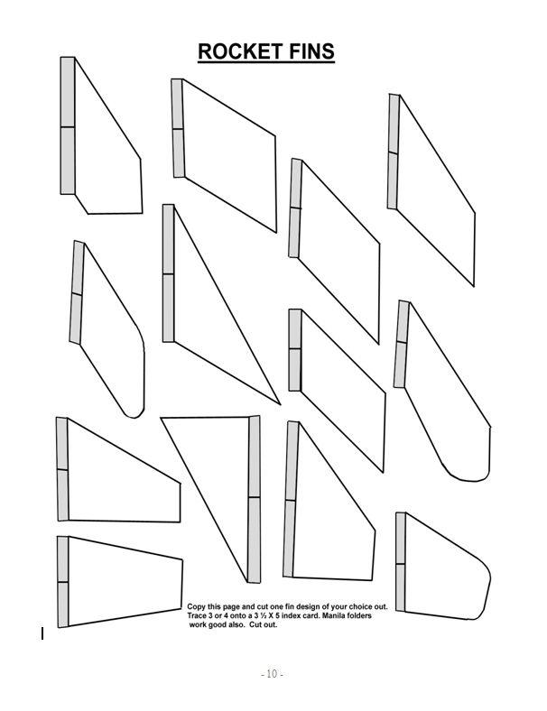 paper rocket fin template