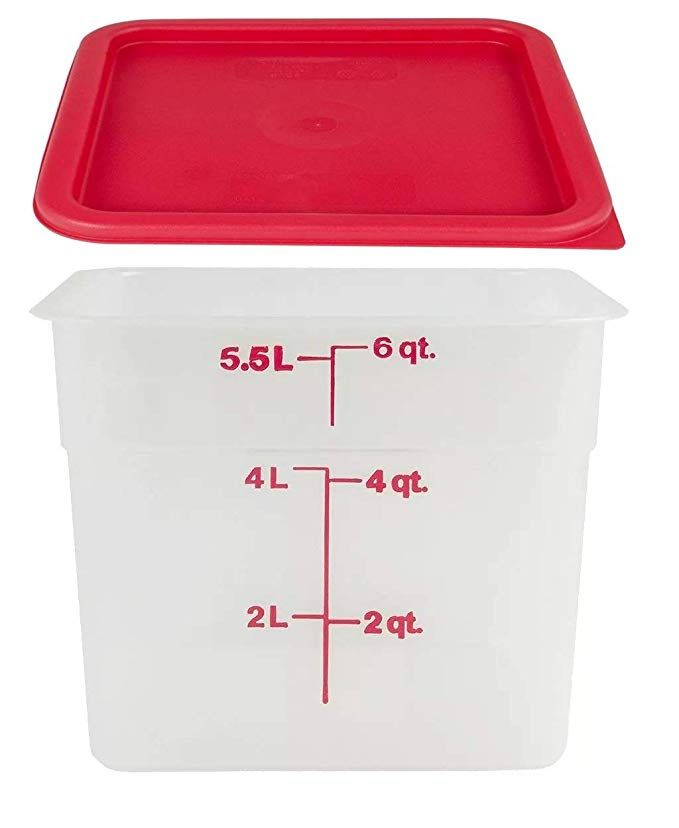 Camsquare Storage Container Translucent 6 Qt With Lid