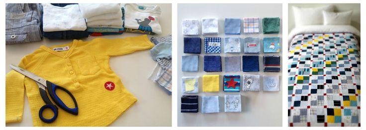 Op bestelling handgemaakte lappendekens & kussens van je favoriete babykleertjes