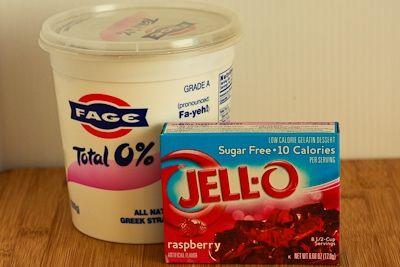 Two-Ingredient Sugar-Free Raspberry Yogurt Pie Recipe for a South Beach Diet Phase One (Low-Carb) Dessert found on KalynsKitchen.com