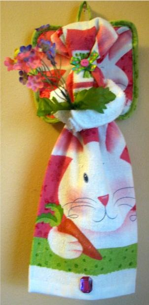 Nothing Says Happy Easter Like This Cute Kitchen Towel Angel Bunny Does.  She Will Look