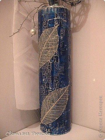 Декупаж - Синяя композиция