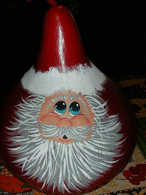 Hand+Painted+Gourds | ... www.etsy.com/listing/52710788/santas-bears-hand-painted-santa-gourd