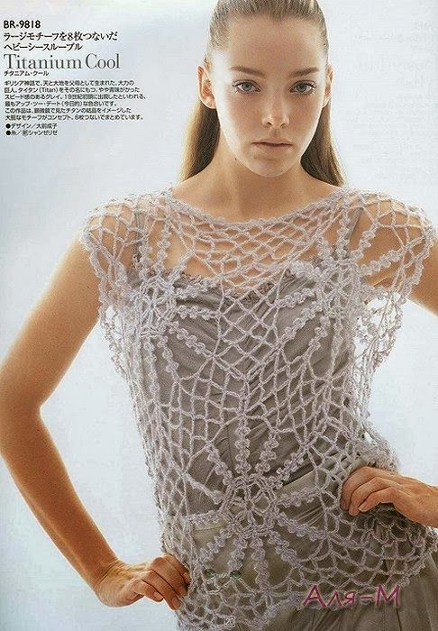 Delicate lace Top with complete diagram here