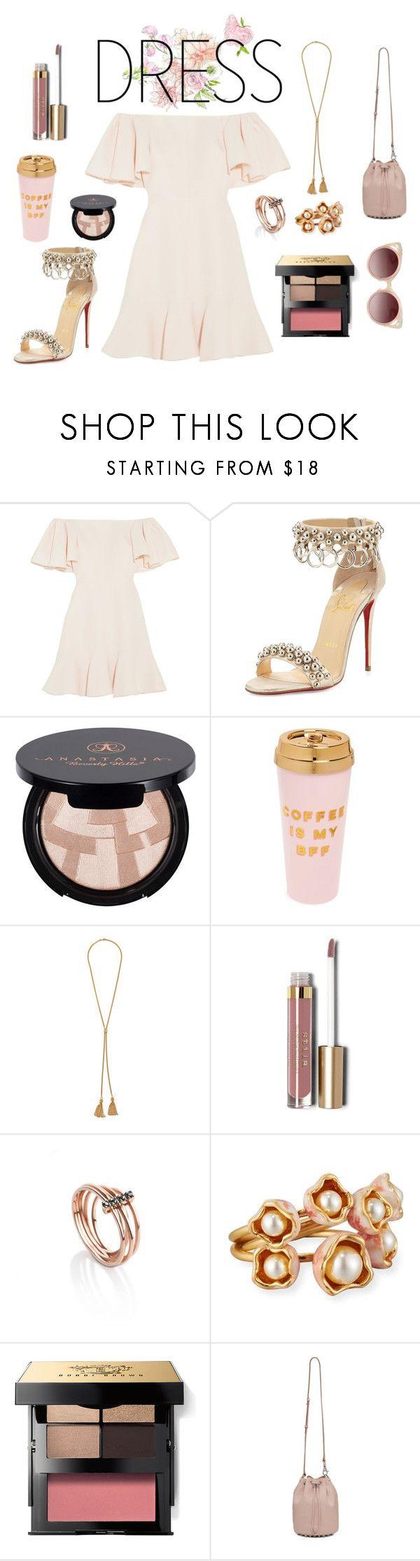"""blushing"" by lanagur on Polyvore featuring мода, Valentino, Christian Louboutin, Anastasia Beverly Hills, ban.do, Chloé, Stila, MyriamSOS, Tory Burch и Bobbi Brown Cosmetics"