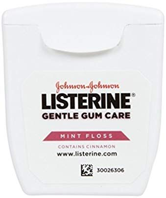 Listerine Gentle Gum Care Mint Floss Pocket Size 5 Yd 3 Pack