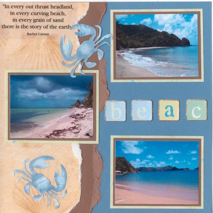 Beaches of Tobago - Scrapbook.com this would be a good layout for Nate's Brzil pics