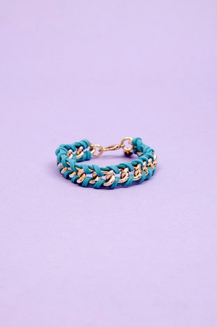 timi Persuede Me Chain Bracelet $13 at www.tobi.com  #Timi #Suede #Bravelet #Blue #Colors #Style #Chic #Trendy
