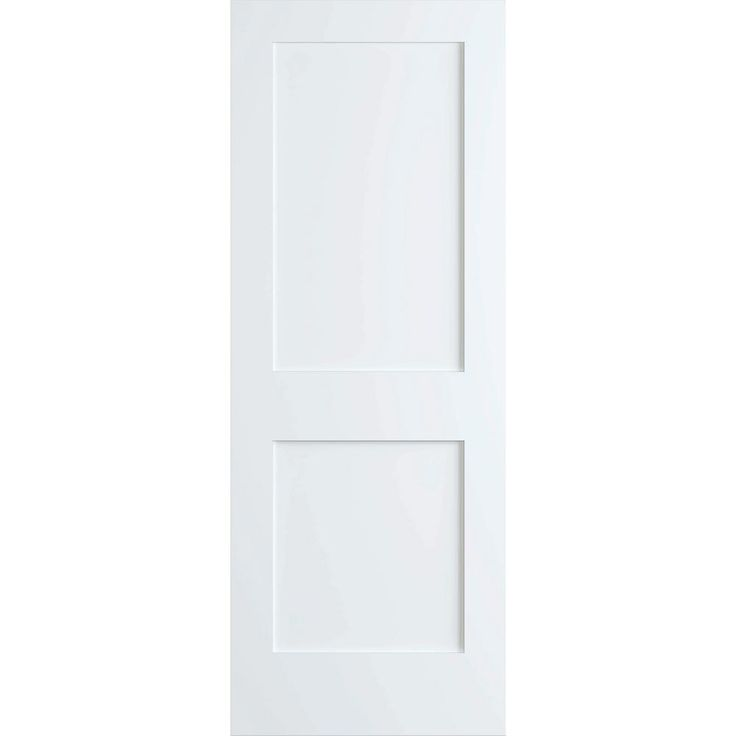 Kimberly Bay 24 in. x 80 in. White 2-Panel Shaker Solid Core Pine Interior Door Slab