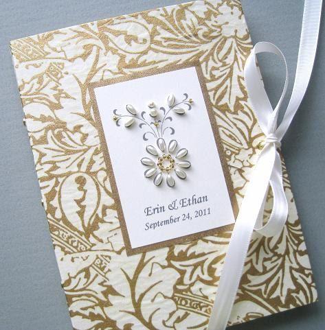 #Wedding Photo Album Keepsake  Personalized Gold and by Daisyblu