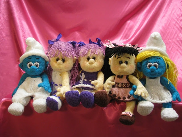 Knitted Dolls: all together