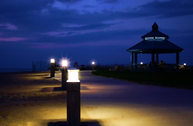 night time by the beach grand bend