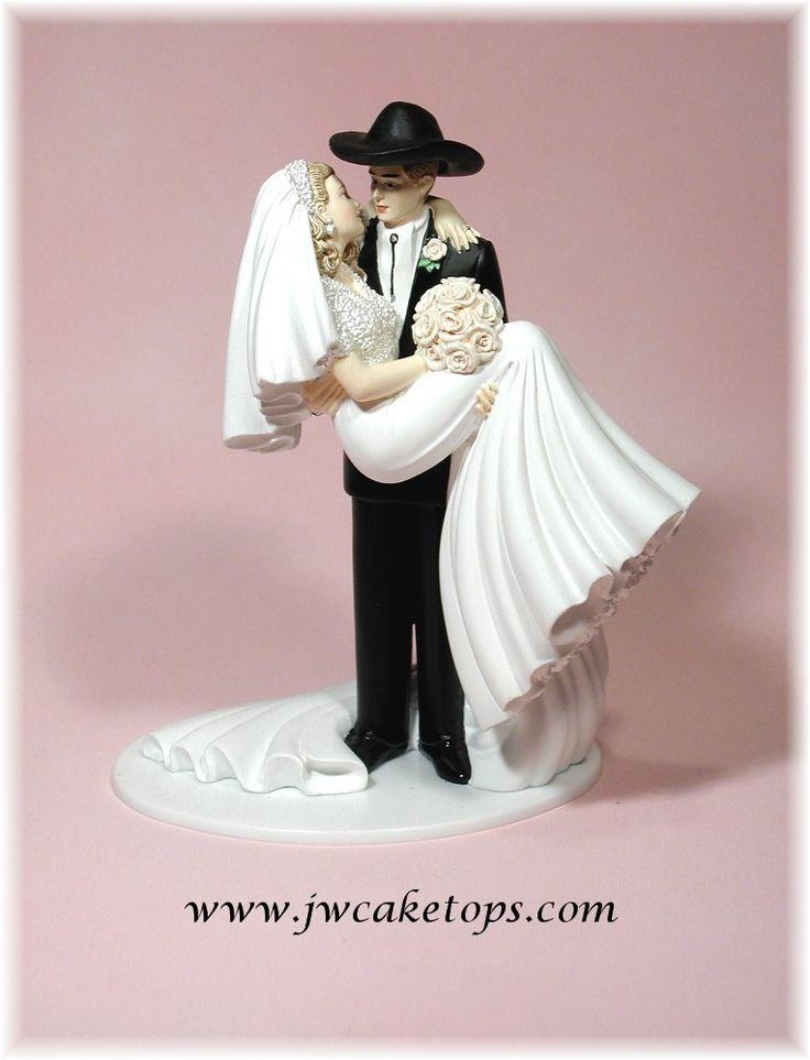 Western Bride and Groom Wedding Cake topper