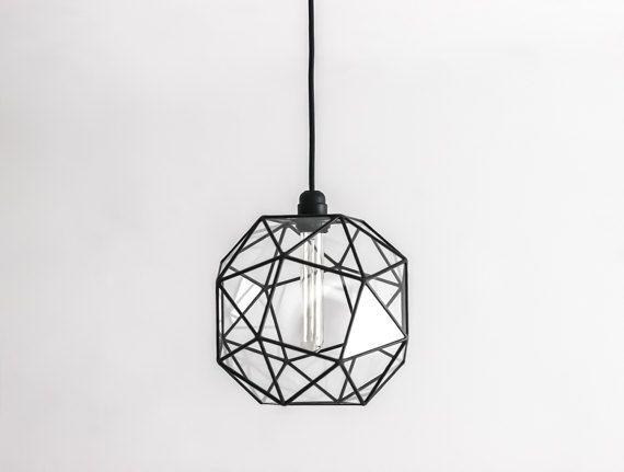 Keppler Snub Cube Large Chandelier / Geometric Glass Pendant Light / Vintage Bulb Lamp / Studio Style Ampulla / Modern Pendant Lighting