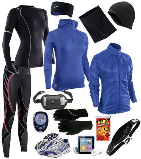 Winter running gear! Because face it, you still have to get those miles in even if it is cold as the North Pole!