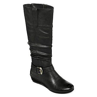 jcp | Yuu™ Simona Wide Calf Wedge Buckled Boots
