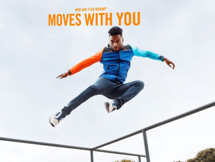American Eagle Outfitters Introduces Flex/Denim for Men - Moves With You