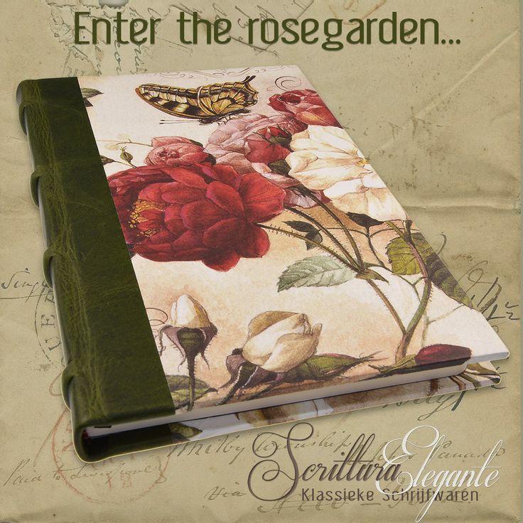 Treedt binnen in de romantische rozentuin...laat je inspireren...en vertrouw je verhalen toe aan het papier van dit prachtige handgemaakte notitieboek van Bomo Art... http://www.scrittura-elegante.nl/se_nl/notitieboek-leer-bomo-art-roses.html