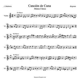 Nana y Canción de Cuna Partitura para Violín y oboe Para tocarle a los niños al ir a dormir