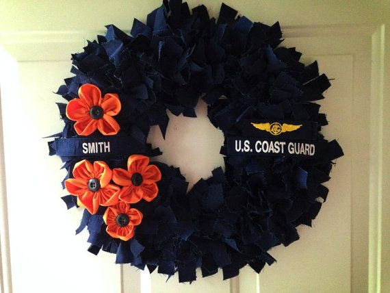 US Coast Guard ODU wreath by ARibbonAmongBeaus on Etsy
