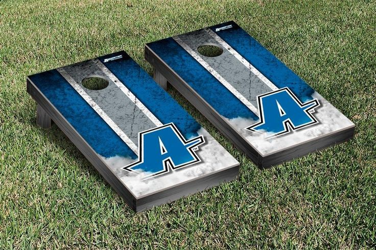 Assumption College Greyhounds Vintage Stripe Cornhole Tailgating Game