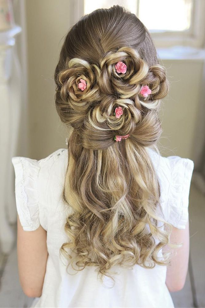 33 Cute Flower Girl Hairstyles 2020 Update Wedding Forward Girl Hair Dos Flower Girl Hairstyles Hair Styles