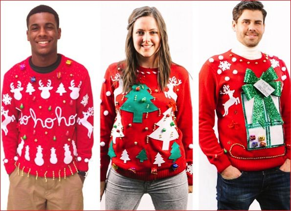 Normally no one likes to wear an ugly Christmas sweater but people follow this trend when it comes to Christmas eve and ugly Christmas sweater party is held