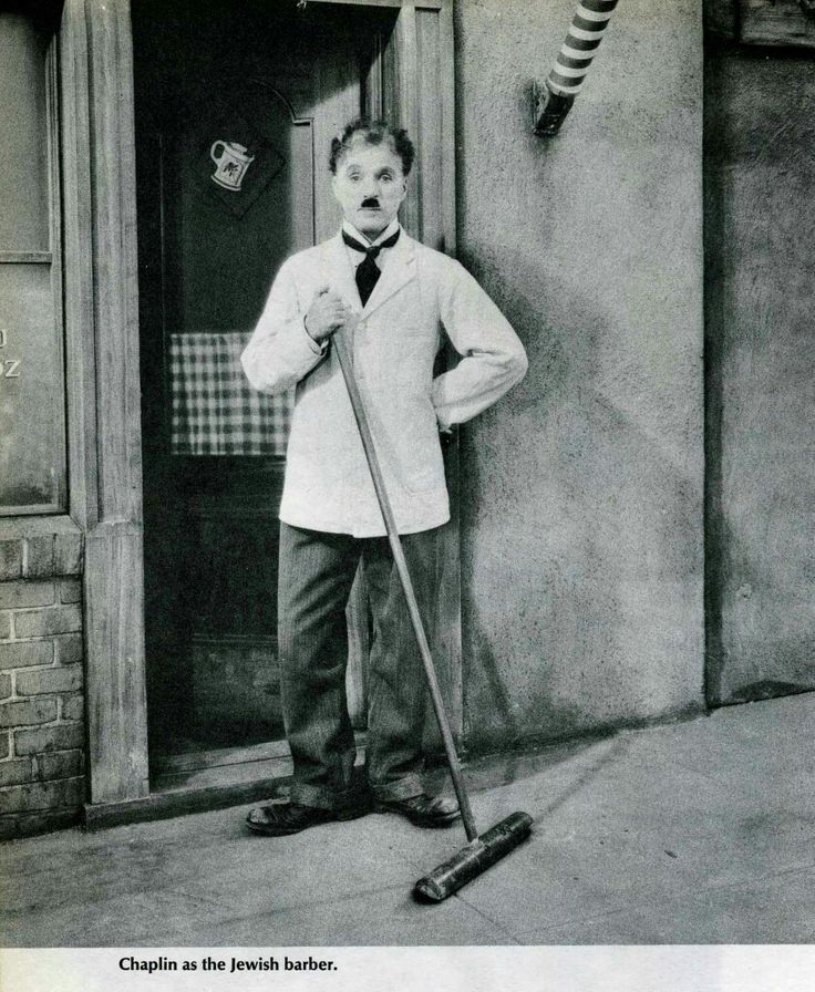 Charlie Chaplin in The Great Dictator, 1939.