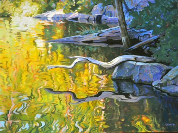 Terry Watkinson - Shoreline 36 x 48 oil on canvas