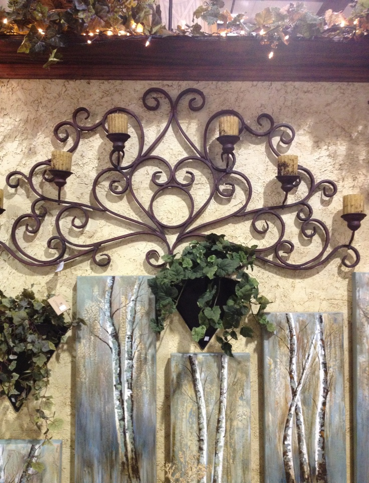 Love this wrought iron wall art!! If you know where I can order this, please let me know!!