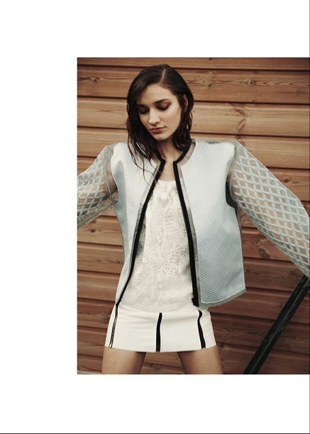 SCHONmagazine.com / jacket SS014 by Sylvio Giardina  Girl's Day Out/  photographer Adeline Mai stylist Tania Rat Patron