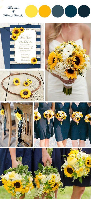 #nunta #bleumarin #floarea #soarelui